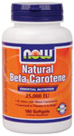 NOW Foods Beta Carotene 25,000 IU 180 Softgels