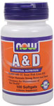 NOW Foods Vitamin A & D 10,000/400 IU 100 Softgels