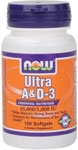 NOW Foods Ultra Vitamin A & D-3 100 Softgels