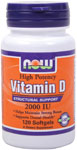 NOW Foods Vitamin D-3  2,000 IU 120 Softgels