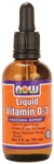 NOW Foods Liquid Vitamin D-3 2 fl oz