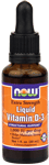 NOW Foods Liquid Vitamin D-3 Extra Strength 1 fl oz (30 ml)