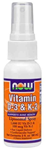 NOW Foods Vitamin D-& K-2 Liposomal Spray 2 fl oz (60 ml)