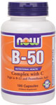 NOW Foods B-50 with C 100 Capsules