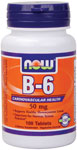 NOW Foods B-6 50 mg 100 Tablets