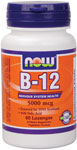 NOW Foods B-12 Sublingual 5,000 mcg 60 Lozenges