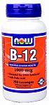 NOW Foods B-12 1000 mcg Sublingual 250 Lozenges