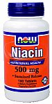 NOW Foods Niacin 500 mg 100 Tablets