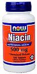 NOW Foods Niacin 500 mg 100 Tablets