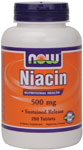 NOW Foods Niacin 500 mg Timed Release 250 Tablets