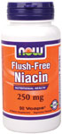 NOW Foods Flush-Free Niacin  250 mg Hexanicotinate 90 Capsules