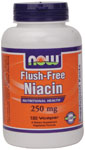 NOW Foods Flush-Free Niacin  250 mg 180 Capsules