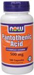 NOW Foods Pantothenic Acid 500 mg 100 Capsules