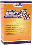 NOW Foods Instant Energy B-12 (2,000 mcg of B-12 per packet) 75 Packets