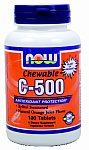 NOW Foods C-500 Chewable Orange Flavor 100 Lozenges