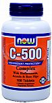 NOW Foods C-500 Complex 500 mg Vitamin C 100 Tablets