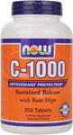 NOW Foods C-1000 mg 250 Tablets
