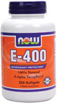 NOW Foods E-400 IU D-Alpha Tocopheryl Acetate 250 Softgels