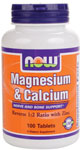 NOW Foods Magnesium & Calcium 100 Tablets