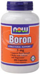 NOW Foods Boron 3 mg 250 Capsules