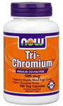 NOW Foods Tri-Chromium™ 500 mcg with Cinnamon 180 Vcaps®