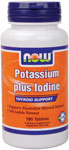 NOW Foods Potassium plus Iodine 180 Tablets