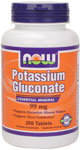 NOW Foods Potassium Gluconate 99 mg 250 Tablets