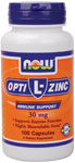 NOW Foods Opti-L-Zinc 30 mg + Copper 100 Capsules