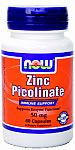 NOW Foods Zinc Picolinate 50 mg 60 Capsules