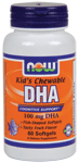NOW Foods Kids DHA Chewables 100 mg 60 Softgels