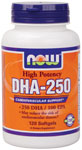 NOW Foods DHA-250 High Potency 120 Gels