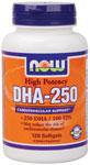 NOW Foods DHA-250 High Potency 120 Gels