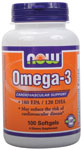 NOW Foods Omega-3 1000 mg 100 Softgels