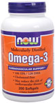 NOW Foods Omega 3 1,000 mg 200 Softgels