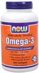 NOW Foods Omega 3 1,000 mg 200 Softgels