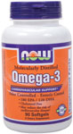 NOW Foods Omega-3 Molecularly Distilled 1,000mg  90 Softgels