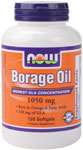 NOW Foods Borage Oil 240 mg GLA 120 Softgels