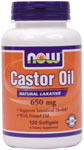 NOW Foods Castor Oil  60 mg 120 Softgels