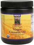 NOW Foods Organic Virgin Coconut Oil  20 Ounces (591 ml)