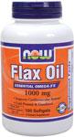 NOW Foods Organic Flax Oil 100 Softgels