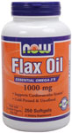 NOW Foods Organic Flax Oil  250 Softgels