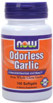 NOW Foods Odorless Garlic 2,500 mg 100 Softgels