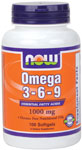 NOW Foods Omega 3-6-9 100 Softgels