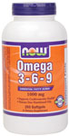 NOW Foods Omega 3-6-9 250 Softgels