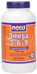 NOW Foods Omega 3-6-9 250 Softgels