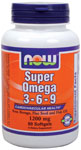 NOW Foods Super Omega 3-6-9 1,200 mg 90 Softgels