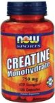 NOW Foods Creatine Monohydrate 750 mg 120 Capsules