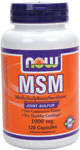 NOW Foods MSM 1,000 mg 120 Capsules