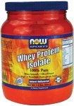 NOW Foods Whey Protein Isolate Unflavored 1 Pound (454g)