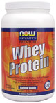 NOW Foods Whey Protein Natural Vanilla Flavor  2 Pounds (908g)